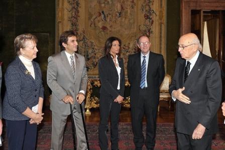 Il Presidente Giorgio Napolitano in occasione della Giornata Internazionale delle Persone con Disabilità