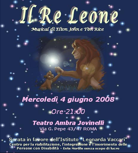 Locandina Musical Re leone